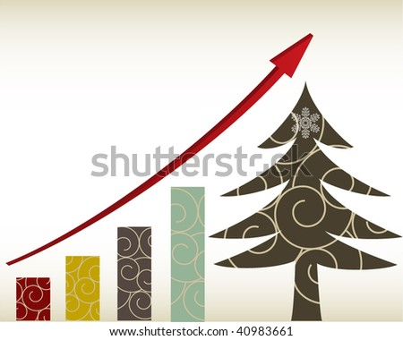 retro christmas increase diagram illustration