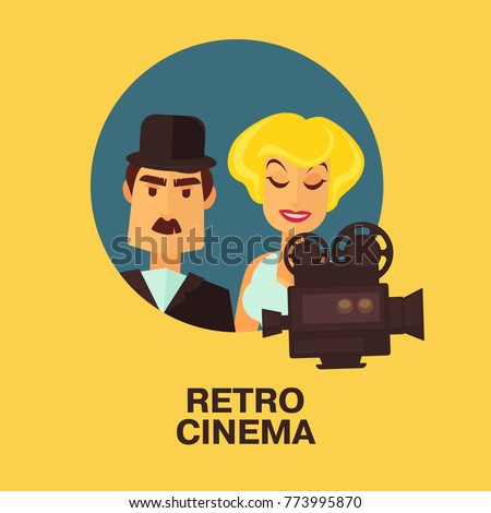 retro cinema movie comic actor