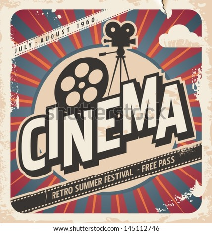 retro cinema postervector