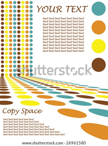 Retro Circle Design Background - Vector illustration