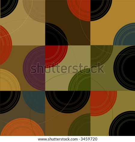 Retro Circles n Cubes (Vector) Spot illustration of stylish, retro boxes and circles. All  boxes are complete so you can move them around! Easy-edit vector file--No transparencies or strokes! - stock vector