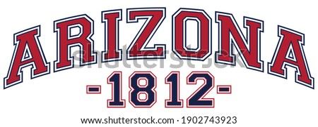 Retro college varsity font typography arizona state slogan print for tee - t shirt and sweatshirt - hoodie