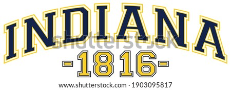 Retro college varsity font typography indiana state slogan print for tee - t shirt and sweatshirt - hoodie
