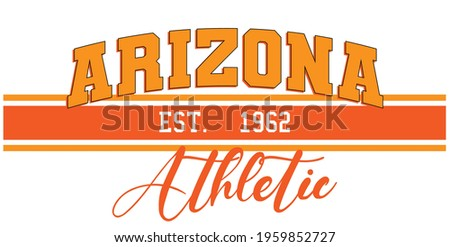 Retro college varsity typography Arizona slogan print for girl tee - t shirt or sweatshirt - hoodie