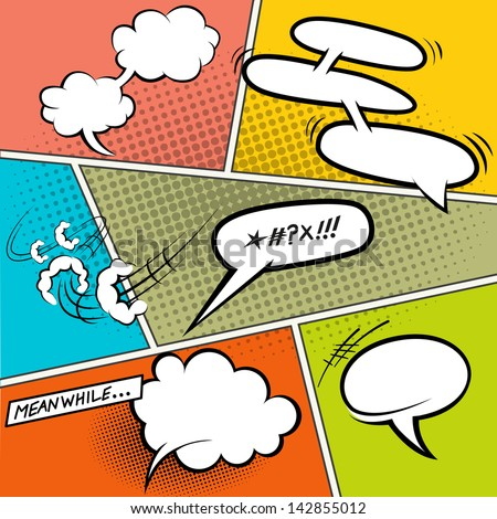 Retro Comic Speech Bubbles - Vector illustration