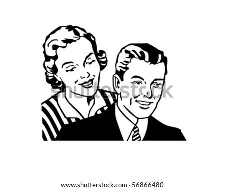 Retro Couple - Clip Art