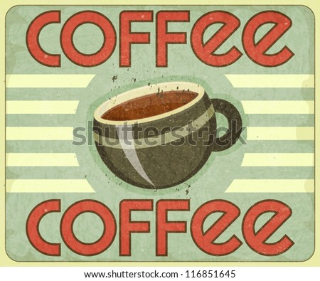Retro Cover for Coffee Menu - vector illustration