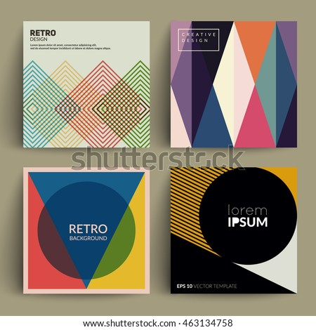 retro covers set colorful