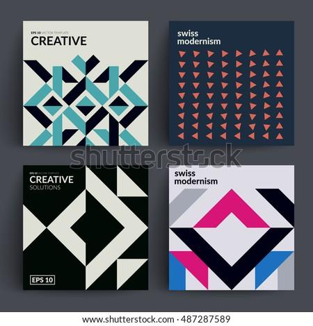retro covers set swiss style