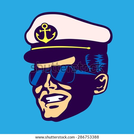 retro cruise ship captain head