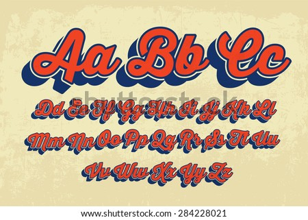 Retro Cursive Typography Vector
