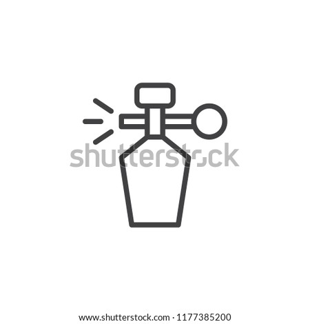 Retro deodorant bottle outline icon. linear style sign for mobile concept and web design. Perfume simple line vector icon. Symbol, logo illustration. Pixel perfect vector graphics
