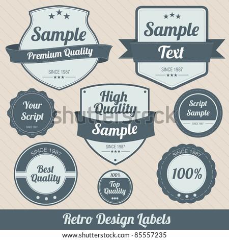Retro Design Badges