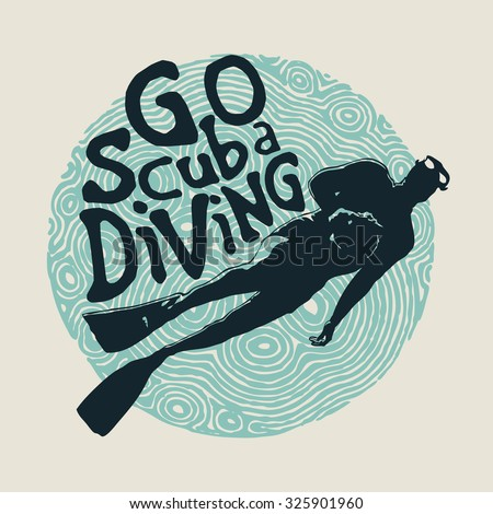 retro design go scuba diving