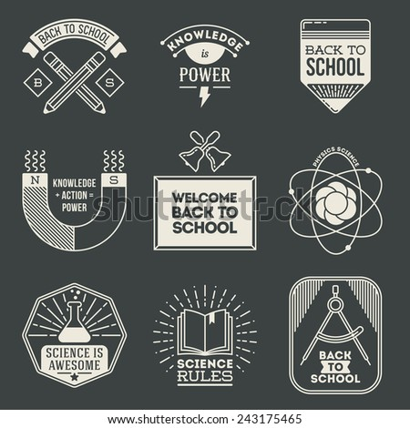 retro design insignias