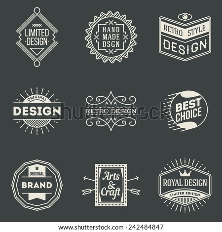 retro design insignias