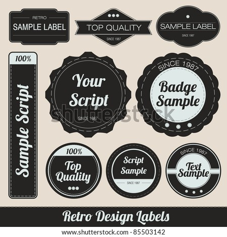 Retro Design Labels