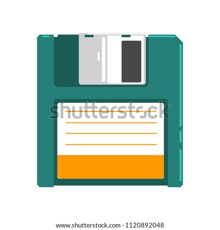 Retro diskette vector Illustration on a white background