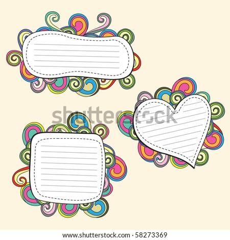 retro doodle frame