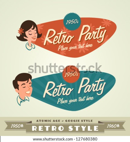 Retro emblems  logos
