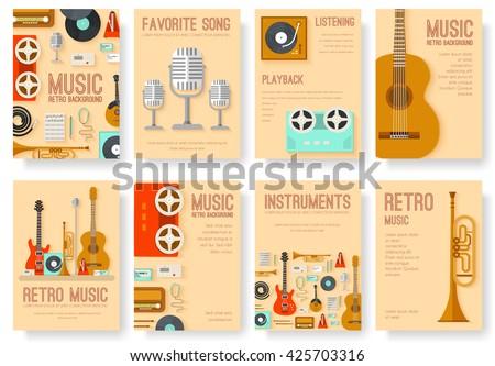 retro equipment music set