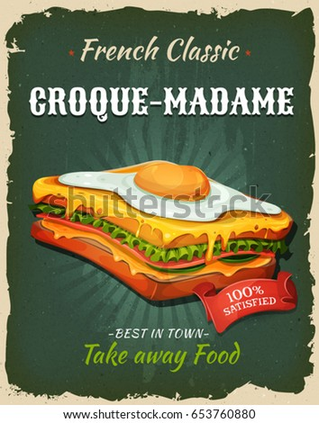 retro fast food french sandwich ...