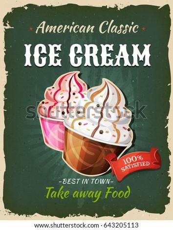 retro fast food ice cream...
