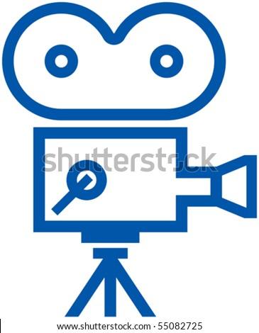 camera logo pictures. film camera icon - Vector
