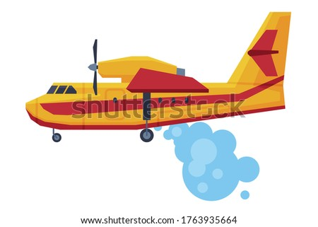 retro firefighting aircraft