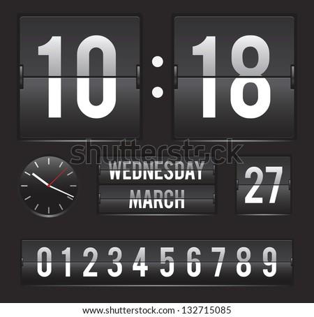 Flip Clock Alphabet - Download Free Vector Art, Stock Graphics & Images