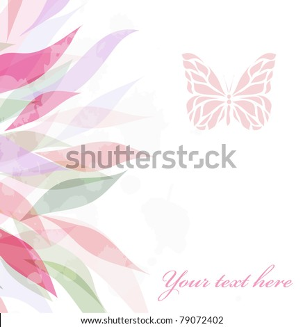 Retro floral background for card (vector version eps 10)