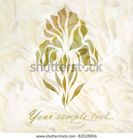 Retro floral background for card with your text  isolated on floral backdrop (vector version eps 10). Perfect for sign, symbol, icon, web, emblem, label, logotype, logo.