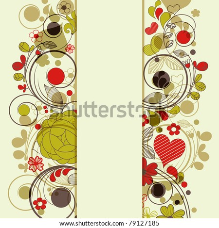Retro floral borders or banner