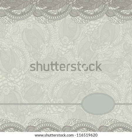 Retro floral template