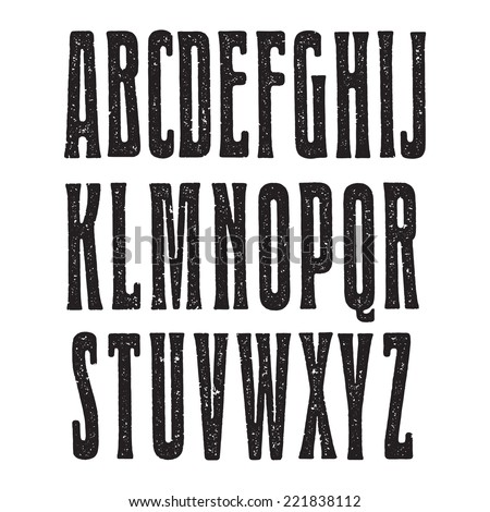 retro font printed on the paper....