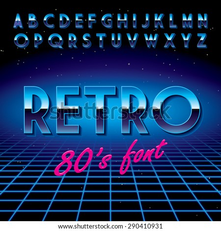retro font stylized to disco