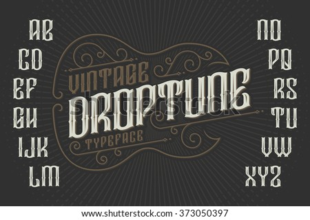 retro font with decorative