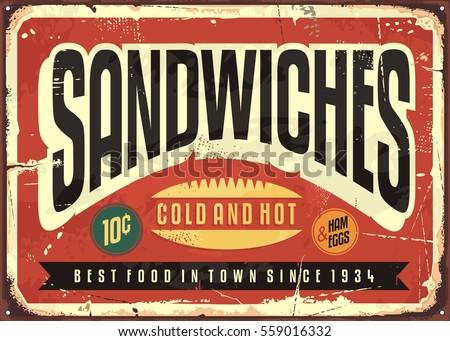 retro food sign design for...