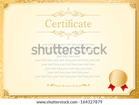 Elegant blue diploma certificate design template download free retro frame certificate template vector yadclub Choice Image