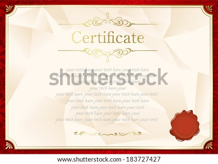 Certificate vector template download free vector art stock retro frame certificate template vector yadclub Choice Image
