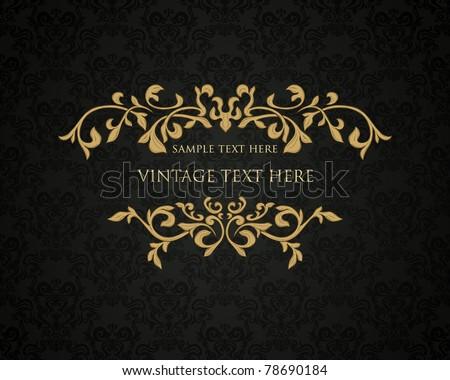 Retro frame or invitation card