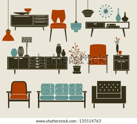 retro furniture and home