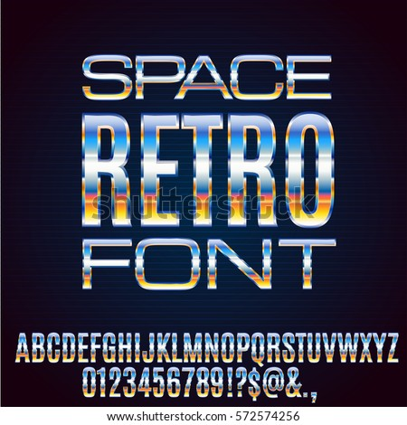 retro future chrome space sci