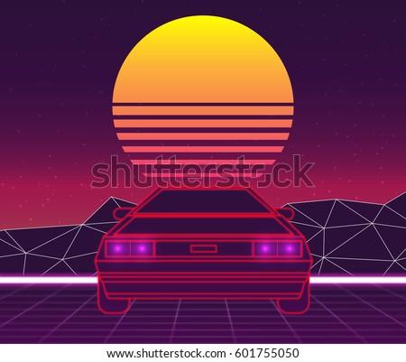 retro future  80s style sci fi