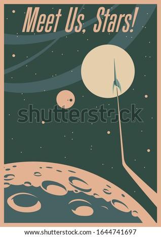 retro future space propaganda