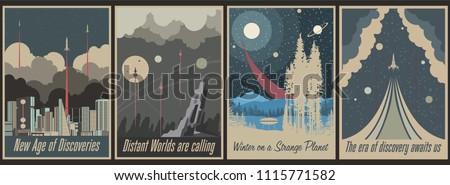 retro futurism space propaganda