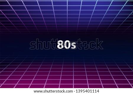 80s Grid Aesthetic