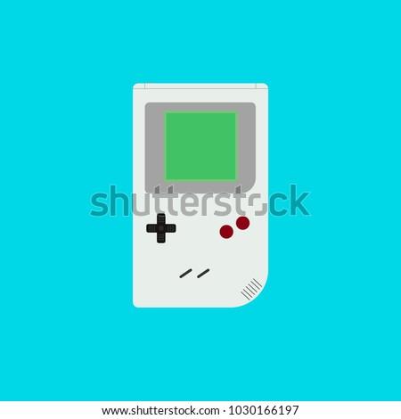 retro game gadget flat vector