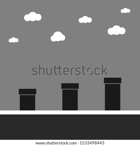 Retro game. Graphic template. Vector background