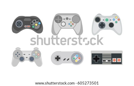 retro gamepads and joysticks